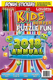 Kids Bumper Puzzle Fun Annual Magazine