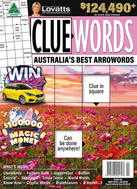 Cluewords magazine by Lovatts Crosswords and Puzzles