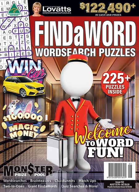 Lovatts Findaword magazine - word search puzzles