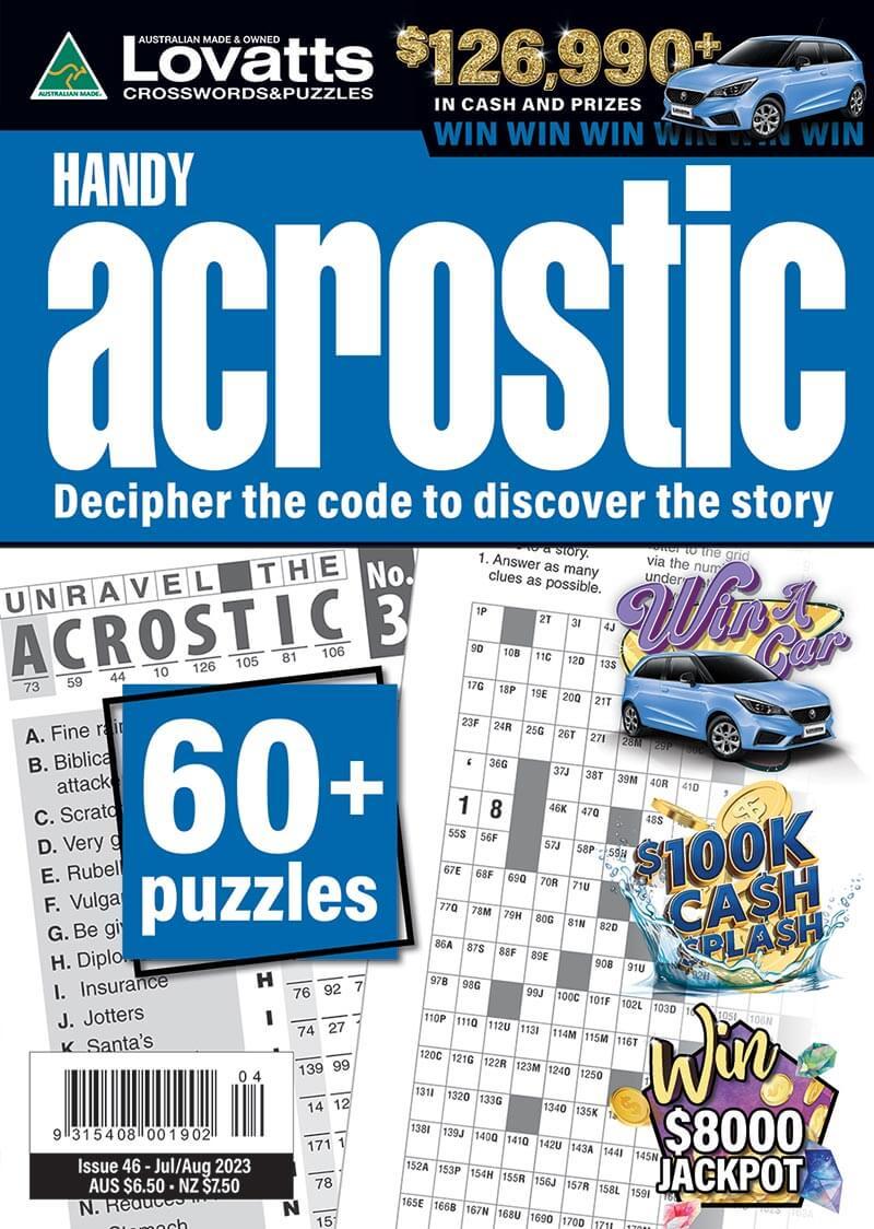 Handy Acrostic magazine