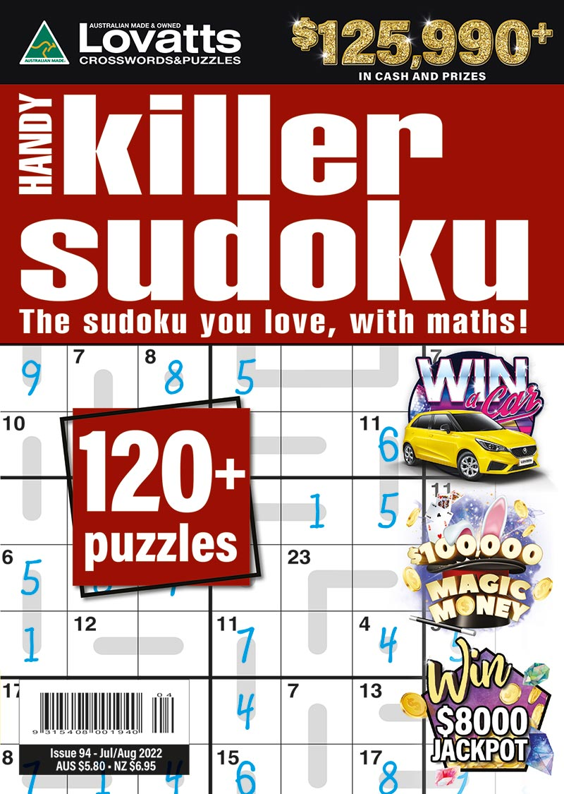 Handy Killer Sudoku magazine
