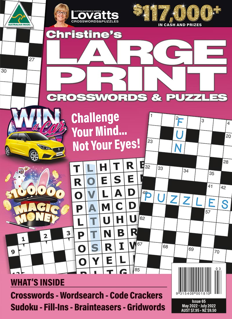 Large Print Crosswords magazine