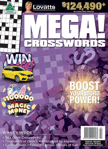 MEGA Crosswords magazine by Lovatts