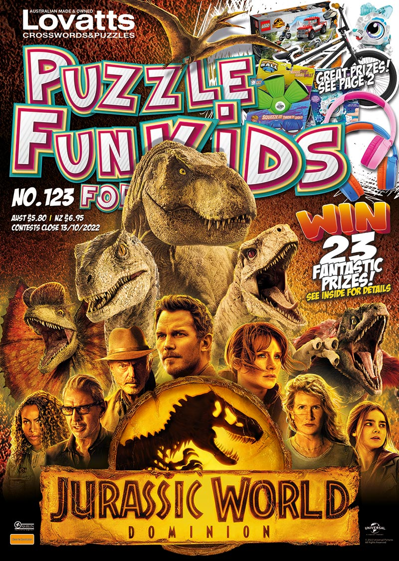 Puzzle Fun For Kids Magazine Lovatts Crossword Puzzles