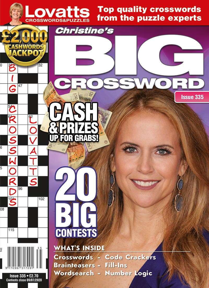 Christine's BIG Crossword magazine