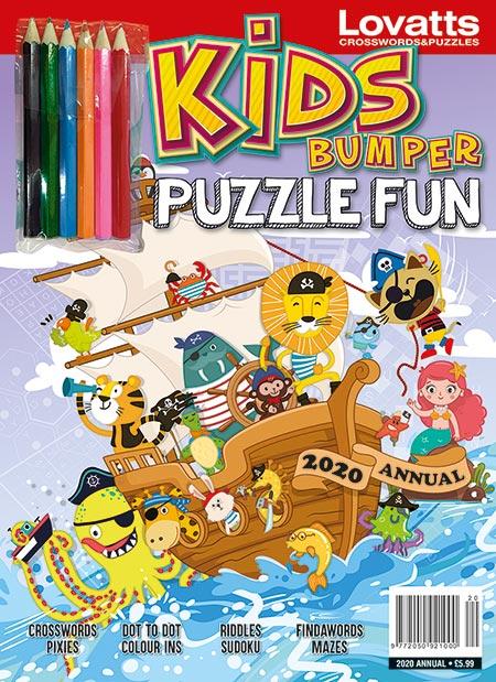 Kids Bumper Puzzle Fun Annual