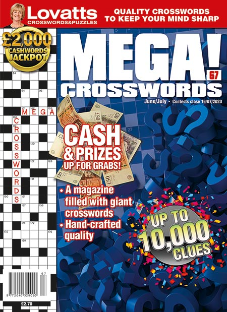 MEGA! Crosswords magazine by Lovatts