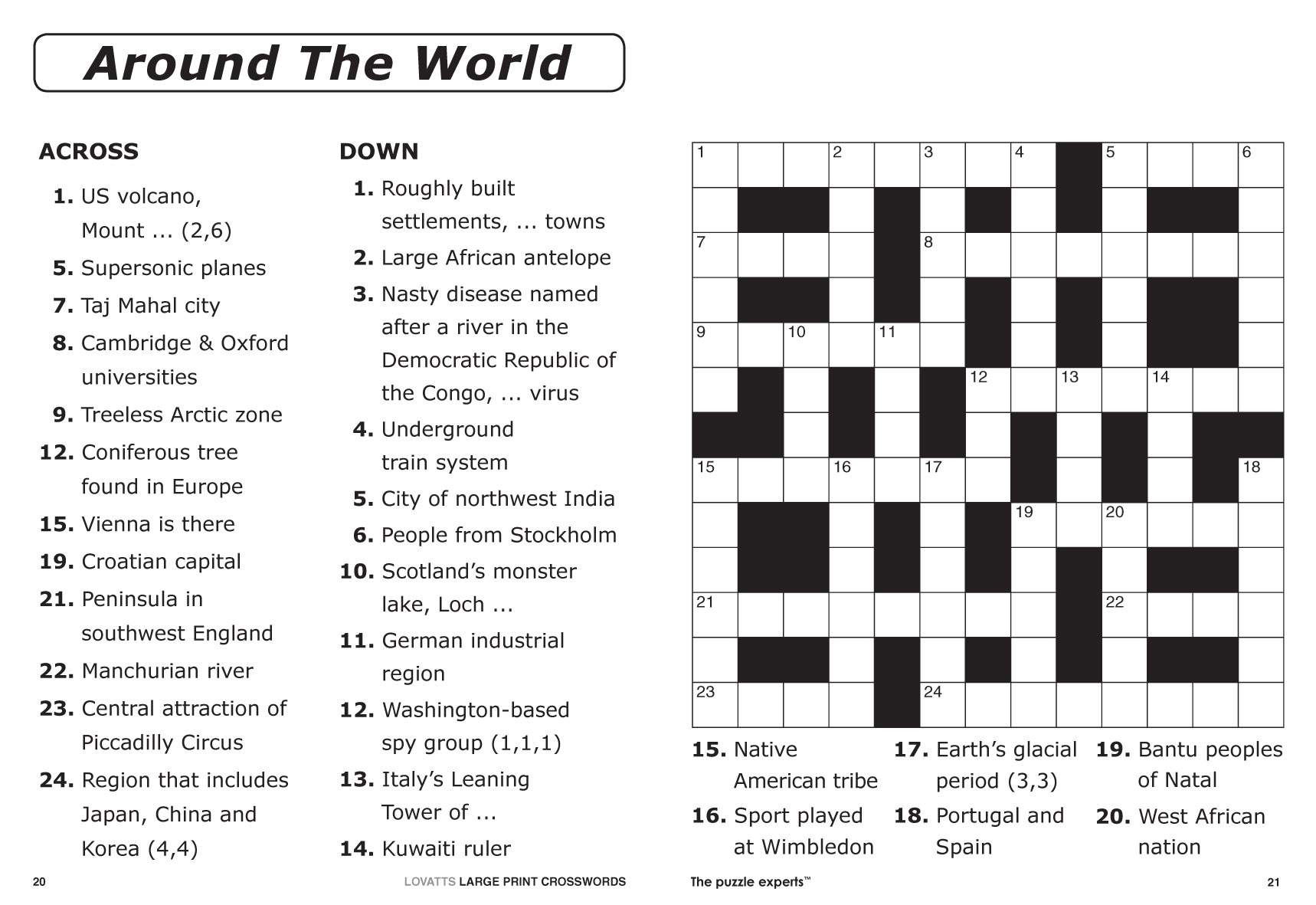 ... Print Crosswords magazine - Lovatts Crossword Puzzles Games & Trivia