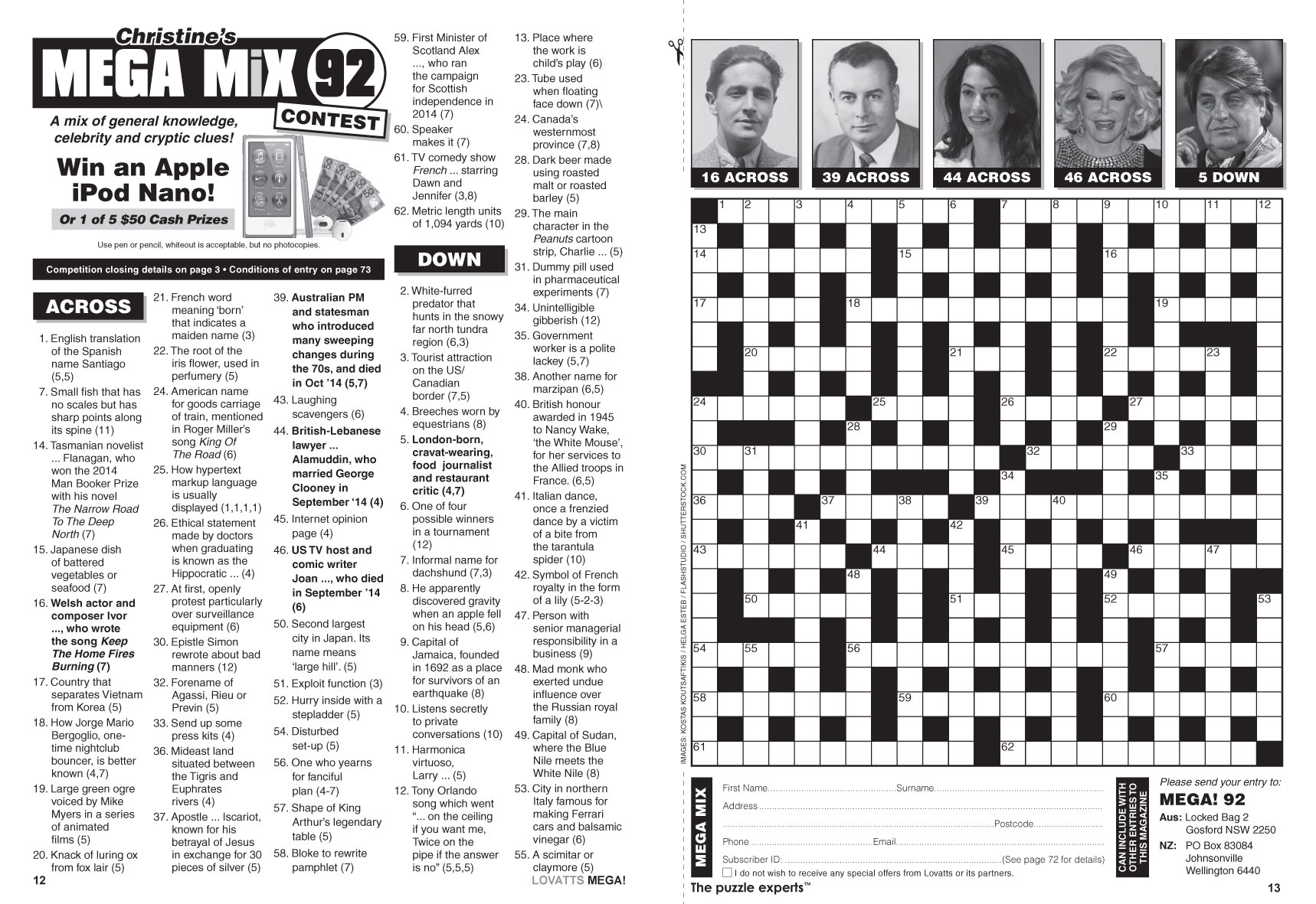 A Hairstyle Crossword: Lovatts Crosswords & Puzzles