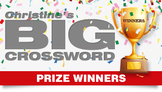 Christine's BIG Crossword Competition Prize Winners