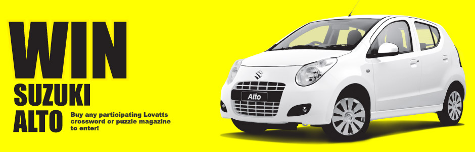 Lovatts Crosswords Puzzles Win A Suzuki Alto Promotion